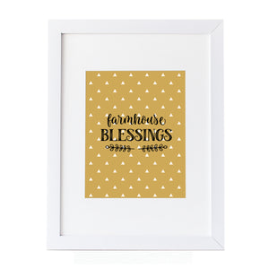 Farmhouse Blessings quote Wall art canvas print