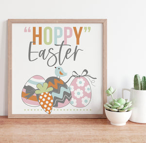 Easter Spring Wall Art Hoppy Easter printable