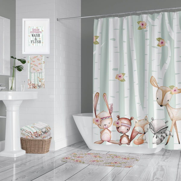 Woodland Critter Green/Pink Bathroom