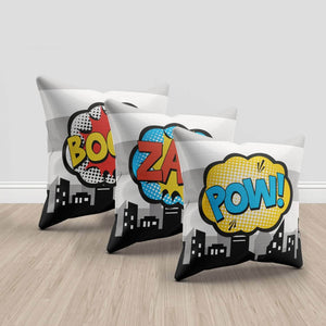 Superhero throw pillows, set of 3 throw pillows
