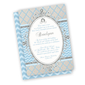 Elegant Cinderella birthday party Invitation