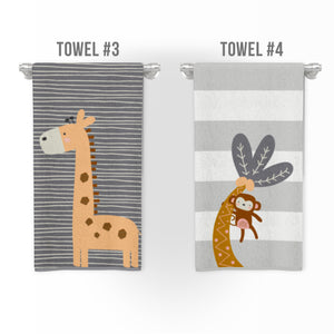 Modern Jungle Bathroom Collection, towels, rugs and more