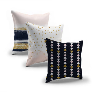 Navy & Blush throw pillows