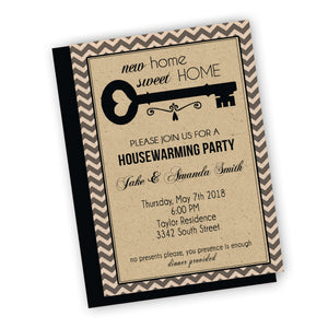 New Home Sweet Home house warming Party Invitation