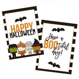 Halloween printable tags, have a boo tiful day printable tag, happy halloween printables