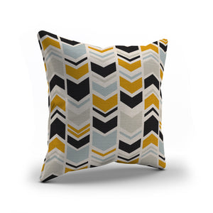 Navy & Mustard Tribal Throw Pillows