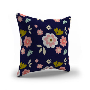 Pink & Navy floral pattern pillows