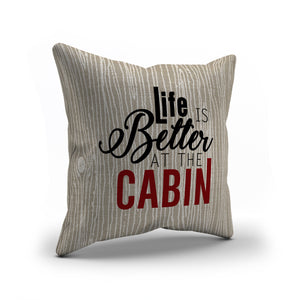 Cabin Love Throw Pillows