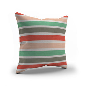 Hello Beautiful coral & gray throw pillows