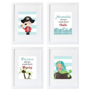 Pirate and Mermaid Bathroom Collection