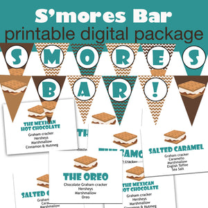 Smore's Party Printable Package