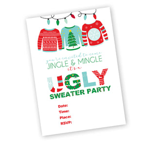 Holiday Ugly Sweater Party Printable Package: ugly sweater candy awards, invitation, toppers and voting cards