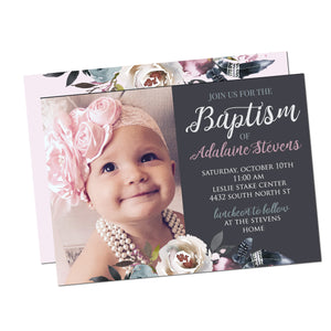 Baptism Customized Christening Invitation