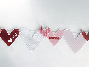 Valentines Love Printable Hearts for crafting and decor