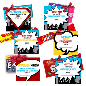Super girls camp  theme candy award tags