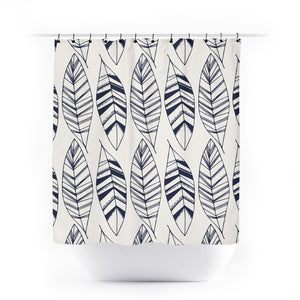 Feathers Tribal Navy & Mustard bathroom collection