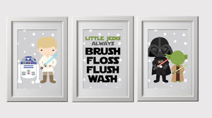 Star kids wall art prints set of 3