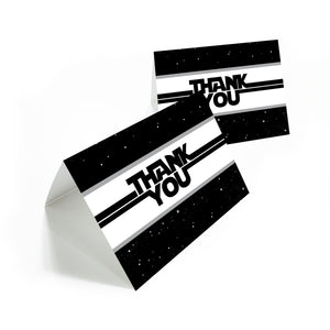 Star Party thank you cards with envelopes