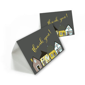 New home / House Warming thank you cards with white envelopes