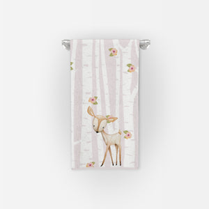 Woodland Critter Green or Pink Bathroom Collection