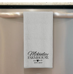 Family Name Custom Kitchen Towel Tea Towel