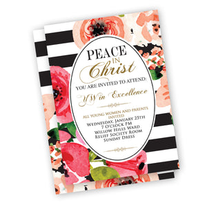 Peace In Christ theme Invitation for Youth Events
