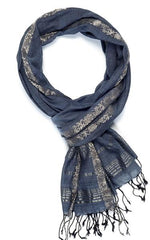 Royal Vine Scarf Navy