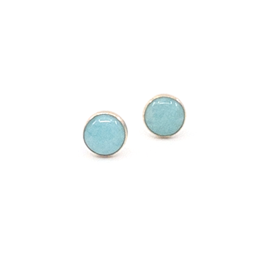 Amazonite Medium Size Stud Earrings