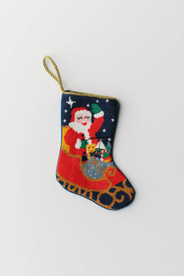 Bauble Stockings - Santa In Sleigh Bauble Stocking