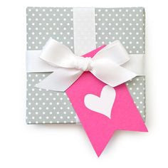 Hot Pink Heart Tag