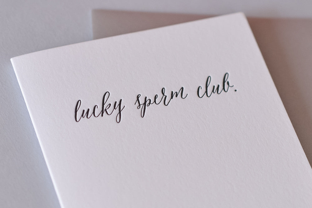 Lucky Sperm Club Card