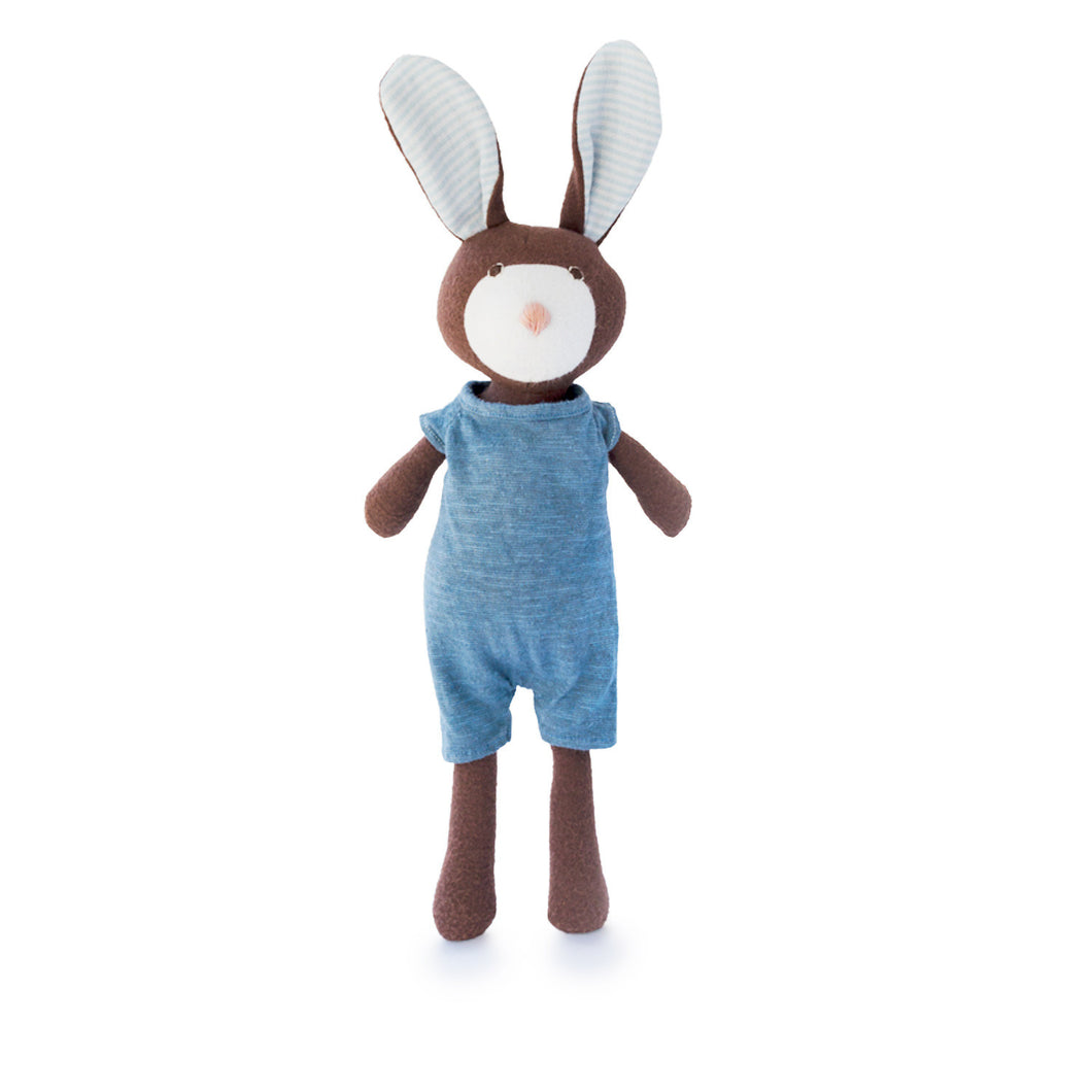 Lucas Rabbit in Indigo Romper