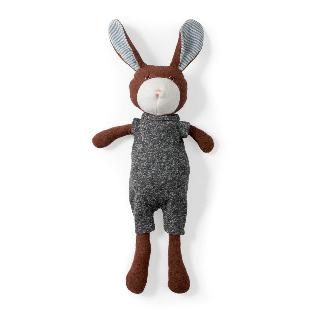 Lucas Rabbit in Stormy Gray Romper