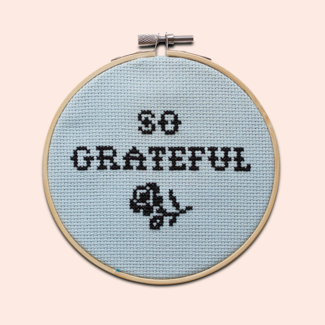 Cotton Clara - So Grateful Cross Stitch Kit