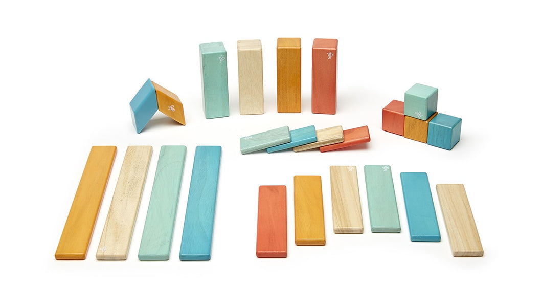 24-Piece Magnetic Blocks Set (Sunset)