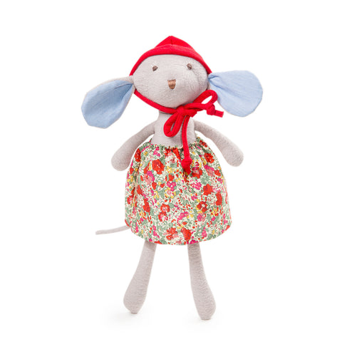 Catalina Mouse in Hedgerow Skirt + Bonnet