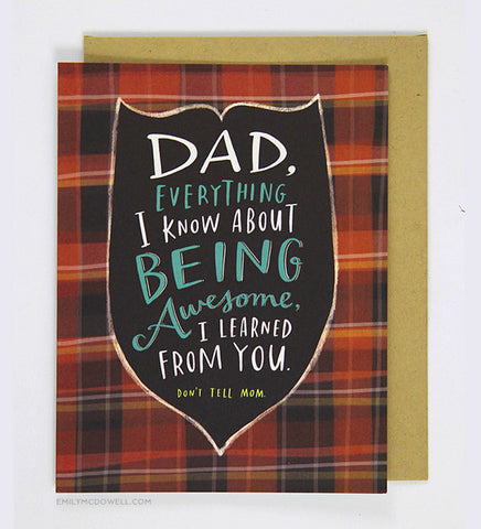 Being Awesome Father's Day Card