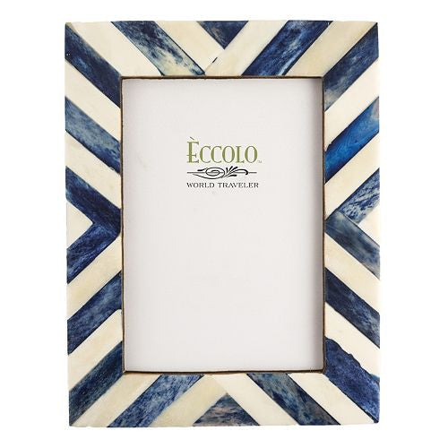 Natural Blue Angled Stripes Frame 5
