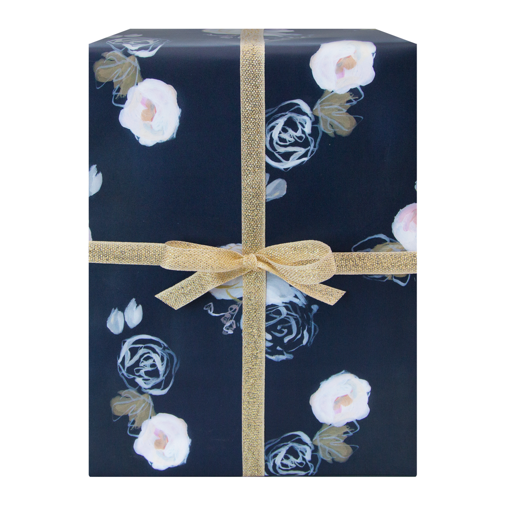 Blue Florals Gift Wrap (Single Sheet)