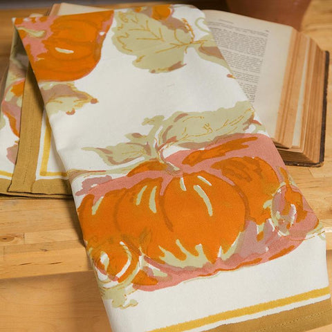 Pumpkin Tea Towel, Orange/Mustard