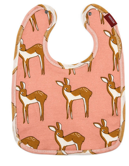 Organic Cotton Rose Doe Bib