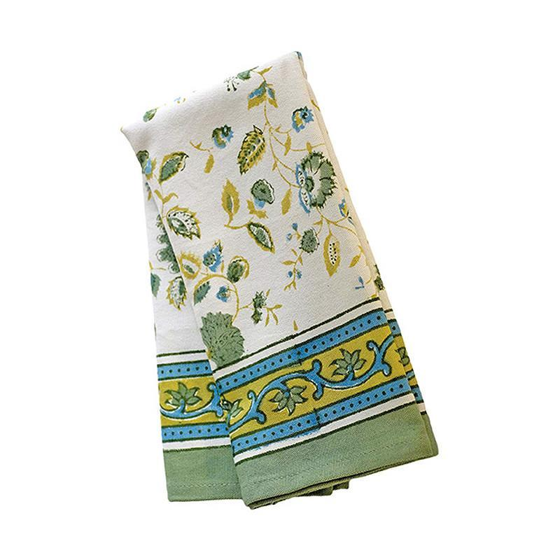 Joy Tea Towel Green & Blue