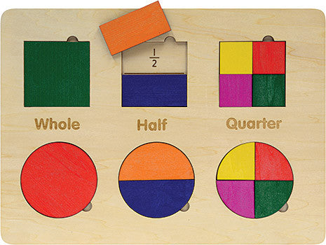 Shapes + Fractions Puzzle