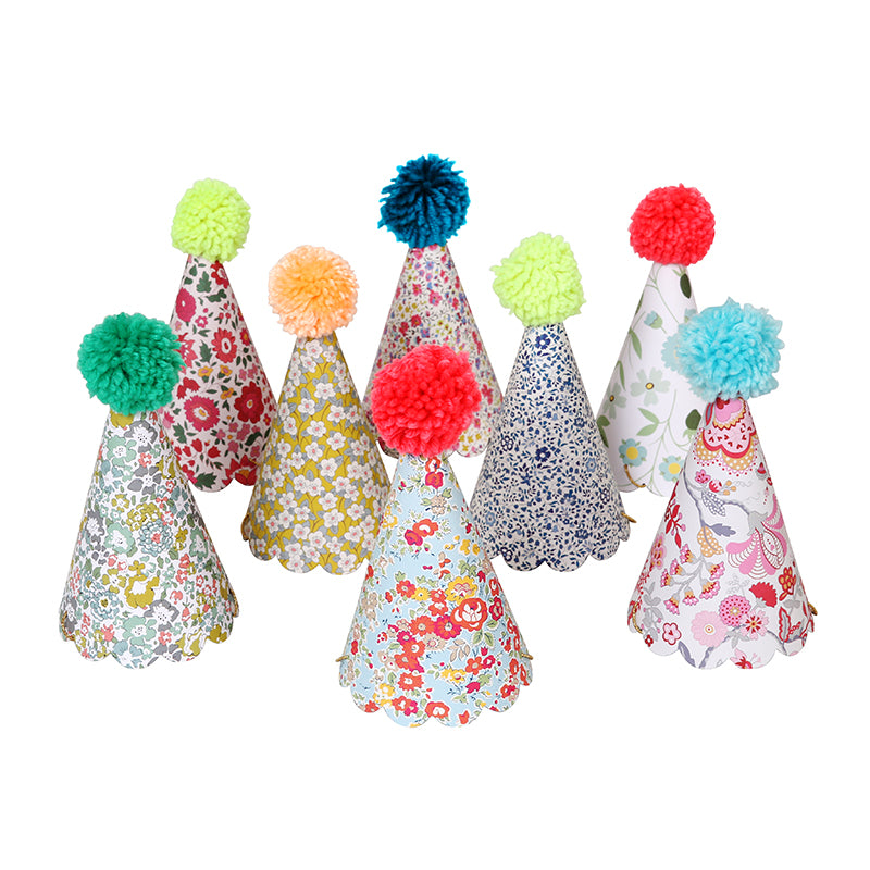 Assorted Liberty Pom Pom Party Hats