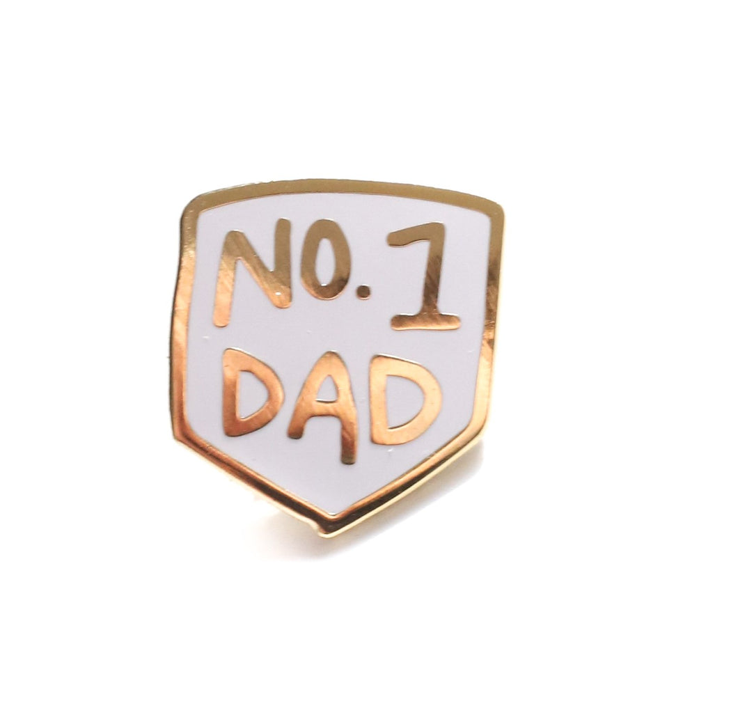 No 1 Dad Enamel Pin The Gold Trout