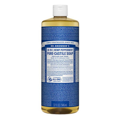 Dr. Bronner's Peppermint Castille Soap 32 oz.