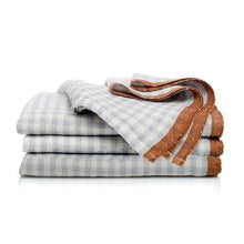 Caravan Home - Two-Tone Gingham Napkins Blue & Cognac, Set of 4