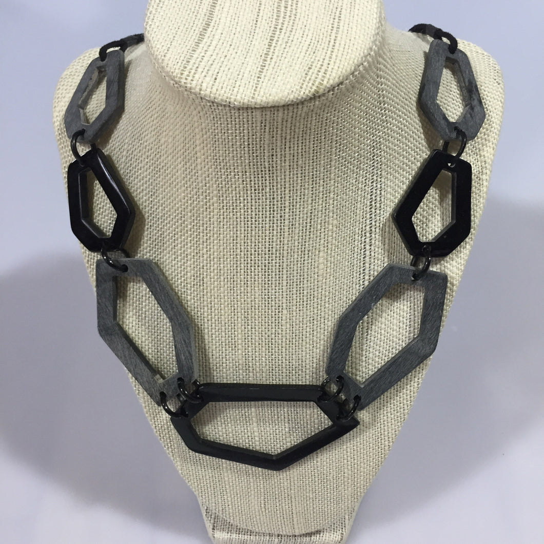 Geometric Horn Necklace