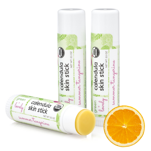 Green + Lovely - Calendula Salve Skin Stick 0.5oz - Summer Tangerine, Organic