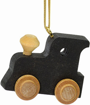 Black Train Engine Ornament